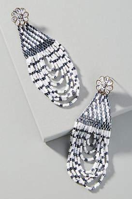 Anthropologie Gemma Beaded Drop Earrings