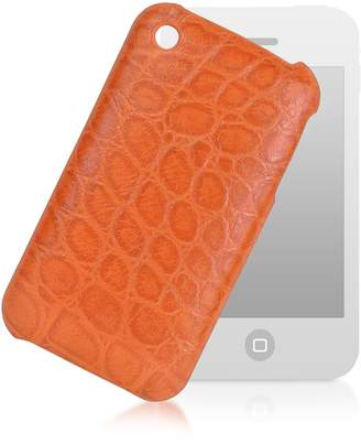Giorgio Fedon Croco-stamped Leather Iphone 3 Case
