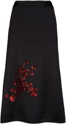 Giuseppe di Morabito Embroiderd A-Line Satin Skirt