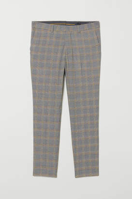H&M Skinny Fit Suit Pants - Yellow