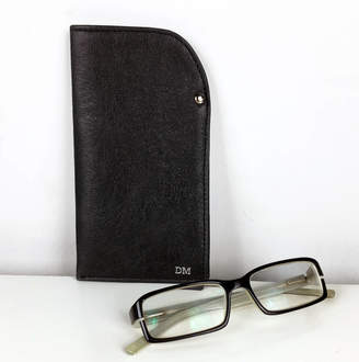 460546064e7 Freeload Leather Accessories Personalised Black Leather Glasses Case