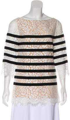 Michael Kors Three-Quarter Sleeve Lace Tunic