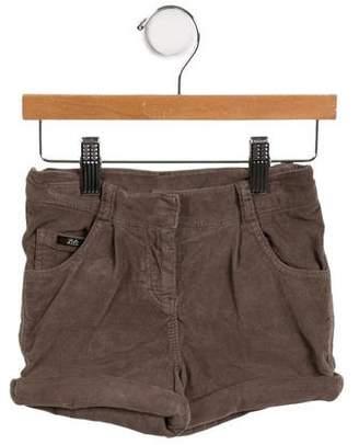 Lili Gaufrette Girls' Velvet Mini Shorts