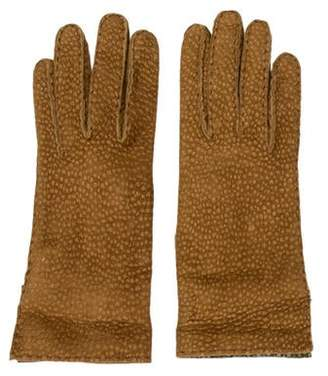 Barneys New York Barney's New York Suede Leather-Trimmed Gloves