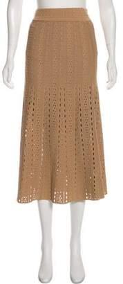 A.L.C. Laser Cut Midi Skirt