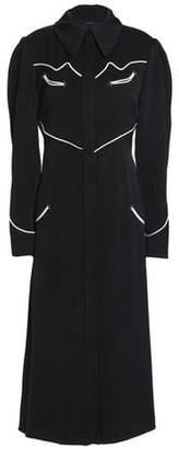 Ellery Fluted Crepe Midi Shirtdress