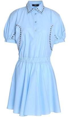 Versace Embellished Cotton-Poplin Mini Shirt Dress