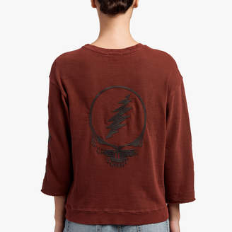 James Perse GRATEFUL DEAD SKULL EMBROIDERED SWEAT TOP