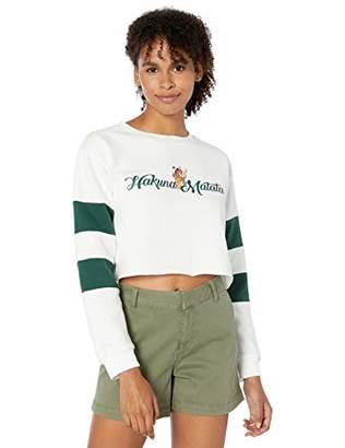 Disney Women's Lion King Cropped Sweatshirt with Sleeve Inserts-Juniors