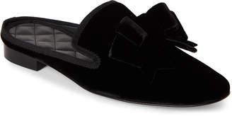 Aleksander Siradekian Black Velvet Bow Mules