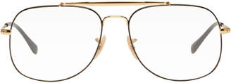 Ray-Ban Gold and Black Icons Glasses