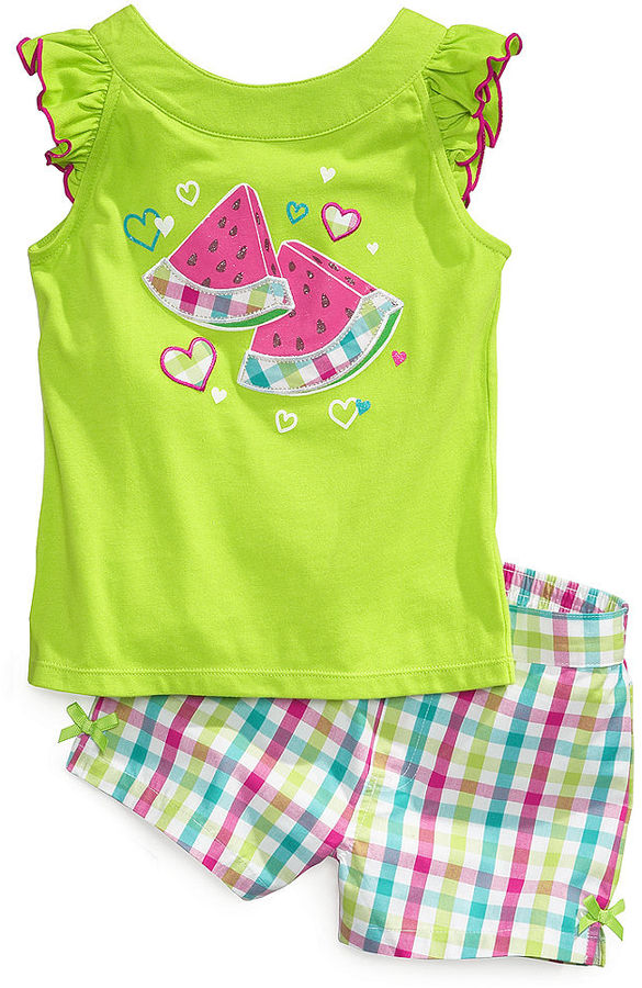 Kids Headquarters Kids Set, Little Girls Tank and Gingham Shorts