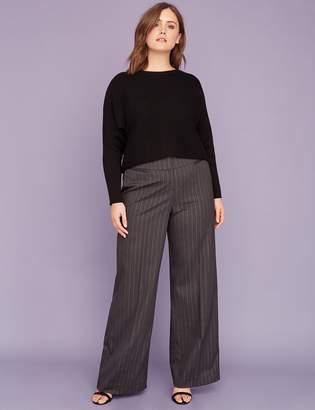 Lane Bryant Allie Tailored Stretch Wide Leg Pant - Metallic Stripe