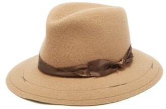 Albertus Swanepoel Raymond Rabbit Felt Fedora Hat - Mens - Camel