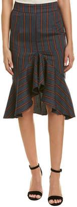 Moon River Asymmetrical Midi Skirt