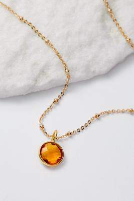 Mirabelle November Birthstone Pendant Gold-Plated Necklace - gold at Urban Outfitters