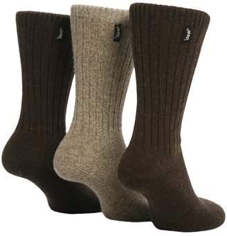 Jeep 3 Pairs Mens Black Wool Rich Hiking walking Socks 39-45 JE2