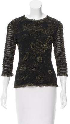 Christian Lacroix Knit Jacquard Crew Neck Sweater