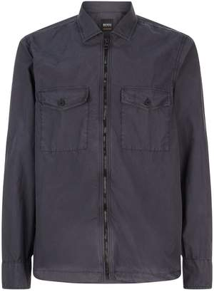 BOSS ORANGE Lightweight Zip Through Overshirt