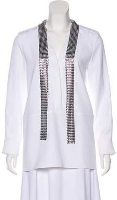 Paco Rabanne Chain-Mail Embellished Blouse