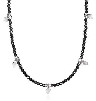 Satya Jewelry Hematite Sterling Silver Lotus Petal Choker Necklace