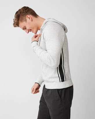 Express Side Stripe Cotton Hooded Sweater