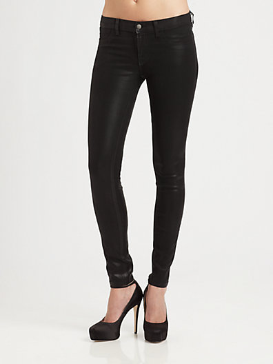 J Brand 915 Low-Rise Coated Stealth Leggings