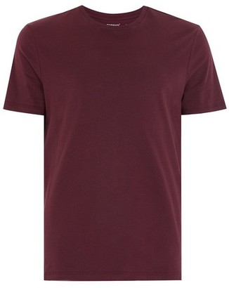 Topman Mens Red Dark Burgundy Slim T-Shirt