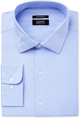 Alfani Men's Classic Fit Performance Twill Textured Dress Shirt