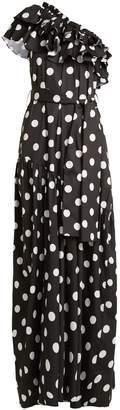Caroline Constas Rhea ruffled cotton-blend dress