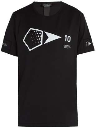 Stone Island Shadow Project - Shadow Project Printed Cotton Jersey T Shirt - Mens - Black