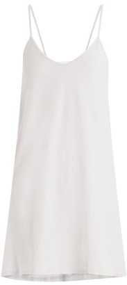 Skin - Scoop Neck Pima Cotton Jersey Slip Dress - Womens - White