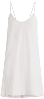 Skin - Scoop Neck Pima Cotton Slip Dress - Womens - White