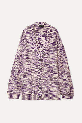Calvin Klein Oversized Wool Cardigan - Purple