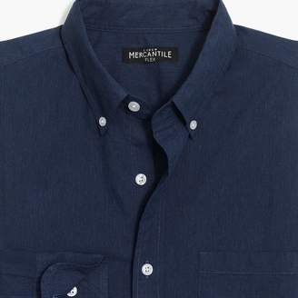 Mercantile Tall slim-fit flex heather washed shirt