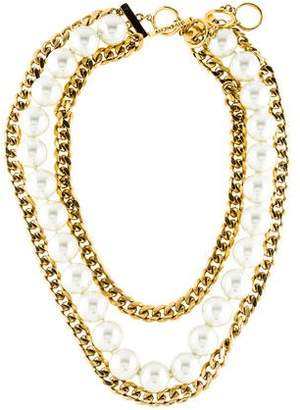Givenchy Faux Pearl Multistrand Necklace