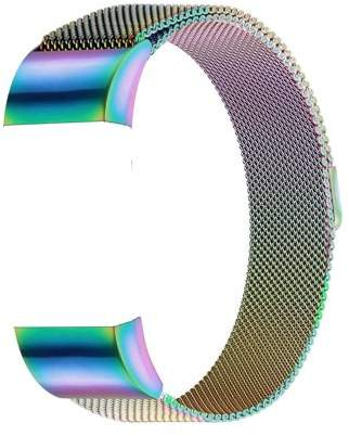 Fitbit iGK Charge 2 Bands Replacement Accessories Milanese Loop Stainless Steel Metal Bracelet Strap with Unique Magnet Lock for Charge 2 (Colorful, Large)