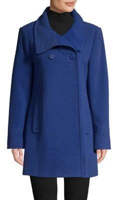 Larry Levine Long-Sleeve Wool-Blend Coat