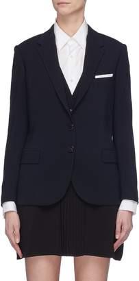 Neil Barrett Vest underlay twill blazer