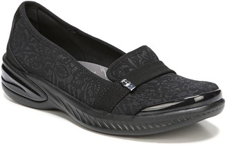 Bzees Slip-On Loafers with Forefoot Strap Detail - Nugget