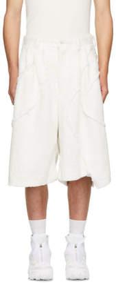 Comme des Garcons White Boa Plushy Shorts