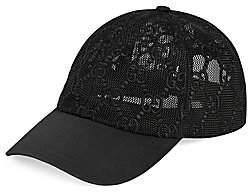 Gucci Women's Mesh Net Print Baseball Cap