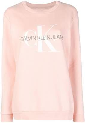 Calvin Klein Jeans crew-neck logo sweatshirt