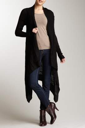 Vertigo Long Sleeve Cascade Open Front Cardigan