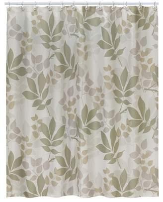Creative Bath Neutrals Shadow Leaves Shower Curtain
