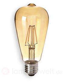 E27 4W 824 LED-Rustikalampe gold, klar