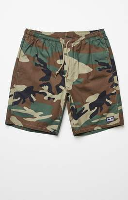 Obey Supervision Camouflage Drawstring Shorts