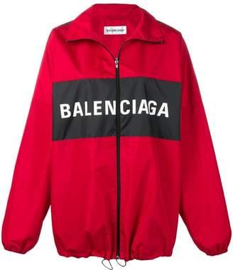 Balenciaga zipped logo jacket