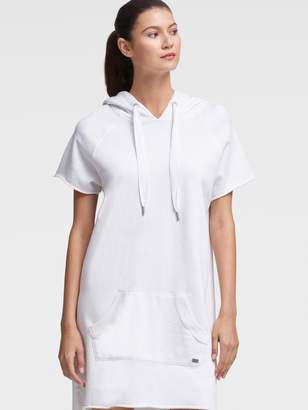 DKNY Hooded Sweatshirt Dress