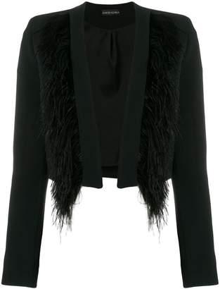 David Koma cropped feather jacket